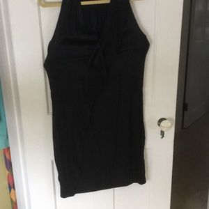 Black, silk, size L, evening dress!